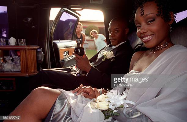 ME0526promIS5High school student Alicia Santinac sits in her limousine on the way to her prom with her date Marcus Wilson Her sister and a neighbor...