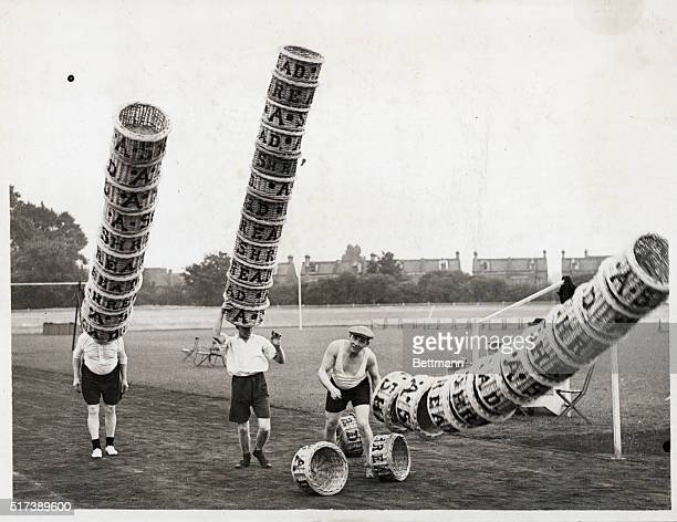 England Porters who carry with apparent ease numbers of baskets on their heads are now practicing hard for the Annual Borough Market sports which are...