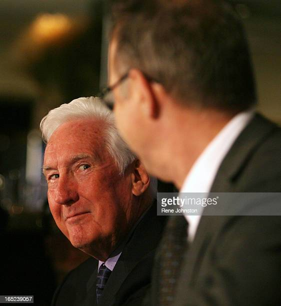 Peddy and Fletcher share a smile at the head table The Toronto Maple Leafs hockey team announced today the firing of John Ferguson as GM and...