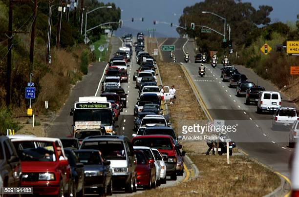 Clinton7AR President Bill Clinton's motorcade has an open Pacific Coast Highway on his way from a private lunch and fundraiser for the Presidential...