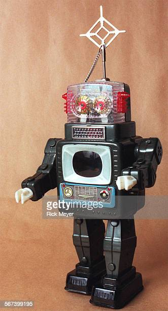 SO1128toys3rm Photo shows a battery–powered robot one of the old valuable toys that were discovered in the LA County Toy Loan program's warehouse The...