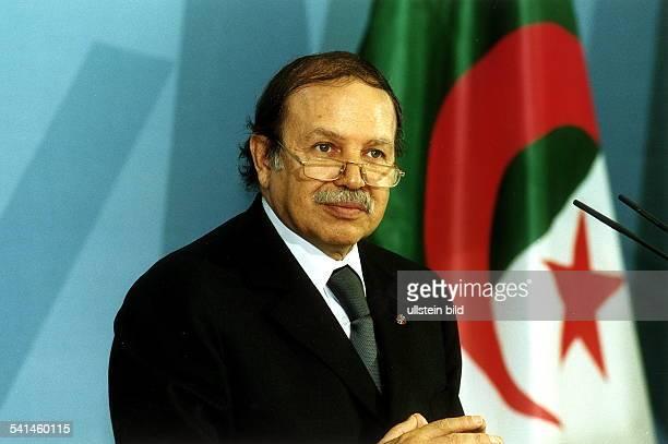 Politiker AlgerienStaatspräsident Pressekonferenz in Berlin während seines Staatsbesuches in Deutschland
