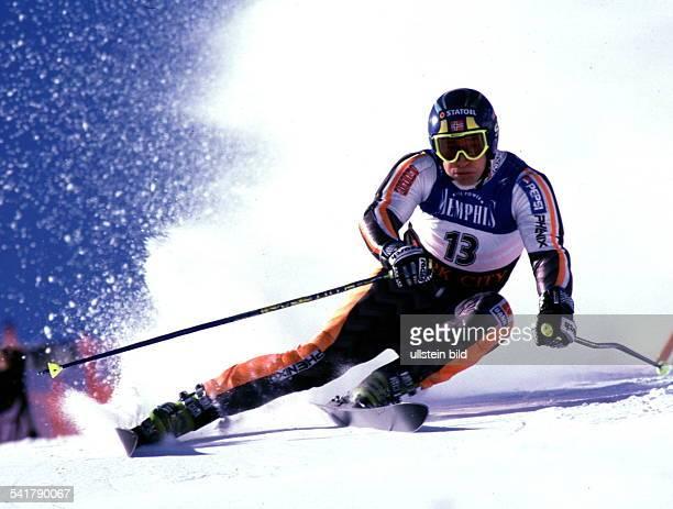 Sportler Ski Alpin NorwegenWeltcup in Park City Riesenslalom in Aktion