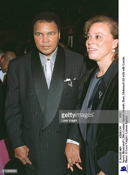 E 361185 009 02Dec99 Nyc Sports Illustrated's 20Th Century Sports Awards Here Muhammad Ali With Wife Lonnie