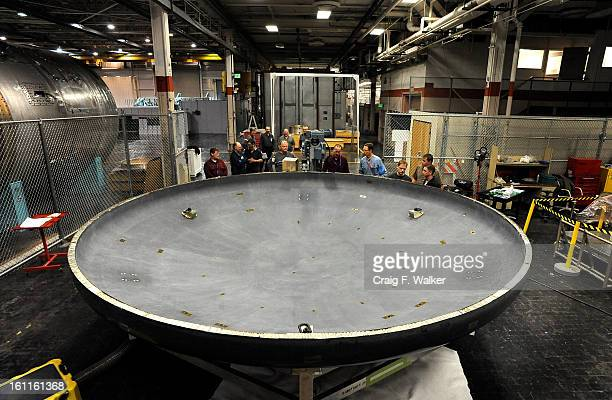 030410_orion_CFW- Lockheed Martin employees machine the heat shield for the Orion crew exploration venhicle at the aerospace giant's Waterton Canyon...