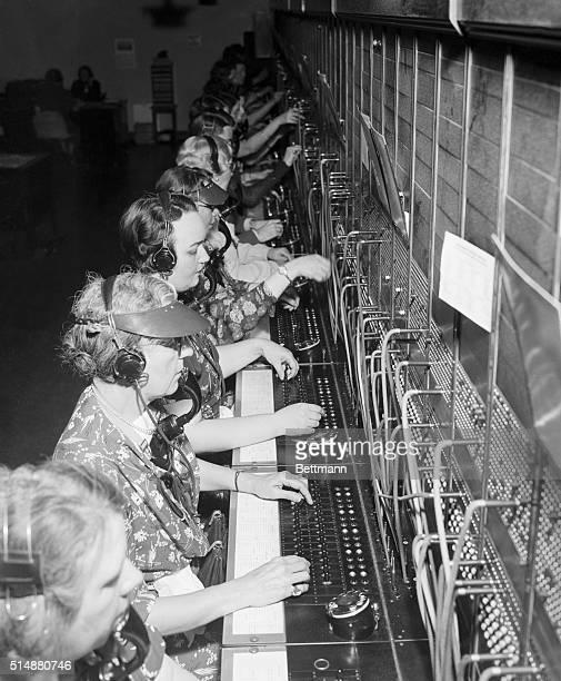 Washington DC Telephone operators at the Capital switchboard