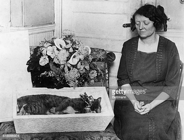 Boston Owner Carrie Buck of the South End mourning her pet cat 'Tommie' which died several days ago All the funeral honors and ceremonies usually...