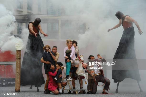Artists of the company in Teatr Biuro Podrozy's Silence at Conference Square as part of the Edinburgh Festival Fringe on August 3 2018 in Edinburgh...