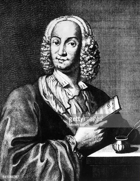 *0403167828071741Musiker Violinist Komponist ItalienPorträt nach einem Kupferstich von Cave 1725
