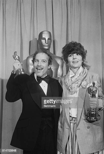 Richard Dreyfuss and Diane Keaton shown as they were awarded best actor and best actress awards at the 50th Academy Awards 4/3 at the Music Center...