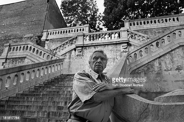 British war photographer Don McCullin photographed at the Visa Pour L'image photojournalism festival in Perpignan France where he has a major...