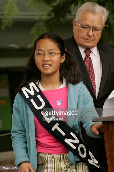 Los Angeles  Eva Hu age 11 and in the 5th grade and a member of