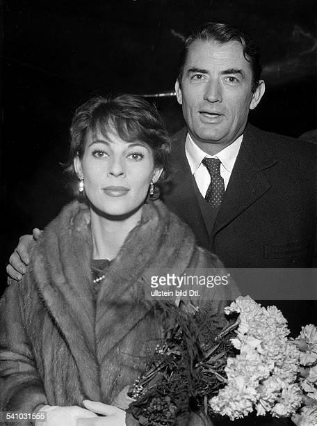 Schauspieler, USAmit seiner zweiten Frau, VeroniquePassani- 1960