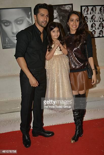 Varun Dhawan and Shraddha Kapoor at Dabboo Ratnanis 2015 calender launch in Mumbai