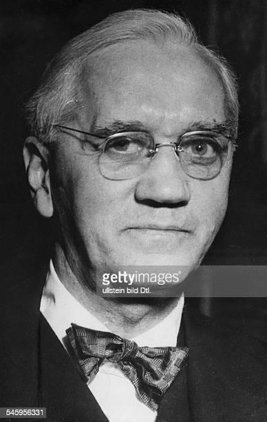 *06081881Mediziner Bakteriologe GrossbritannienNobelpreis 1945 Porträt 1954 identisch mit Bild und Bild