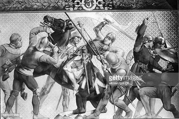 *0610141230051431Nationalheldin Frankreich in der Schlacht von Orleans am 07051429 gegen die Engländer Gemälde veröffentlicht in der Koralle Nr...