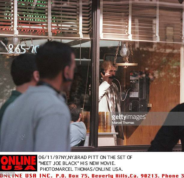Brad Pitt on the set of Meet Joe Black his new movie which started filming today