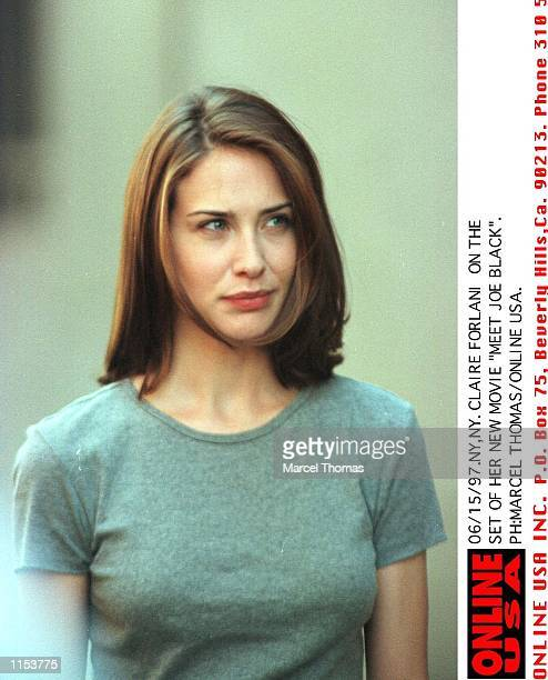 Claire Forlani on the set of 'Meet Joe Black'