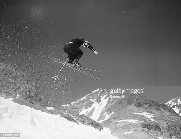 Sun Valley ID The great winter sport has opened its summer season at Sun Valley where you see Alf Engen cocoach of the US Olympic ski team in process...