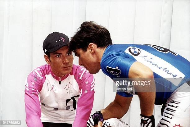 1970Sportler, Radrennen DSechs-Tage-Rennen im Berliner Velodrom:- im Gespräch mit Andreas Kappes - Januar 1998