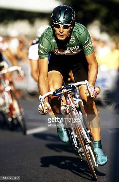 1970Sportler, Radrennen DTour de France:- in Aktion im Grünen Trikot desSprintbesten- Juli 1997