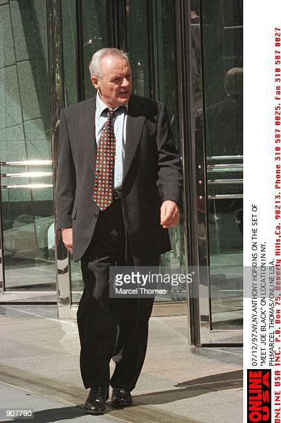 Sir Anthony Hopkins on the set of 'Meet Joe Black' in which he costars with Brad Pitt