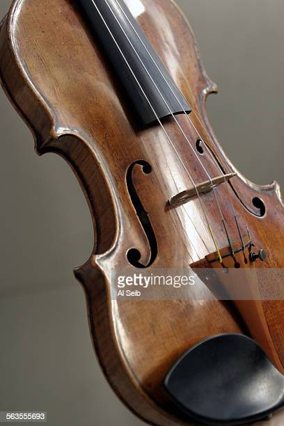 CA1203wkcover11 Los Angeles Philharmonic violinist Guido Lamell and the 1726 Antonio Stradivari violin photographed on stage at Disney Hall Shot is...
