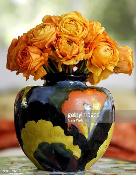 HM0304fleamk Designer Sasha Emerson found this European pottery vase at a flea market It is in the Cheviot Hills home of Ann Blanchard