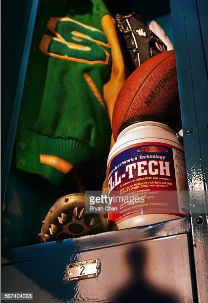 HE0428kidsport––Photo Illustration by ^^^––Photo illustration about creatine use among high school athletes