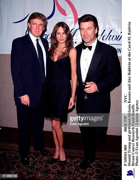 P 358561 005 08Oct99 Nyc Donald Trump And Girlfriend Melania Knauss And Alec Baldwin At The Carol M Baldwin Breast Cancer Research Fund Benefit