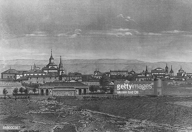 *0910154723041616Schriftsteller SpanienCervantes' Geburtsort Alcala de Henares Stich undatiert
