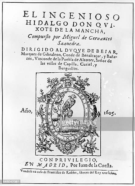*0910154723041616Schriftsteller SpanienTitelseite Erstdruck des Romans 'Don Quijote' Madrid 1605