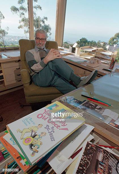 09/14/86La Jolla CA Sitting in his office with his most recent book 'You're Only Old Once A Book For Obsolete Children' is Dr Seuss famous author of...
