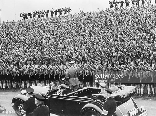 NurembergGermanyImpressive in its interpretation of the Loyalty of German youth to Chancellor Adolf Hitler is this picture made during the historic...