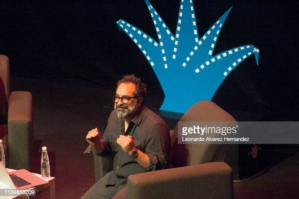 Mexican Production Designer Eugenio Caballero speaks to film students during a Master Class as part of the Guadalajara International Film Festival...