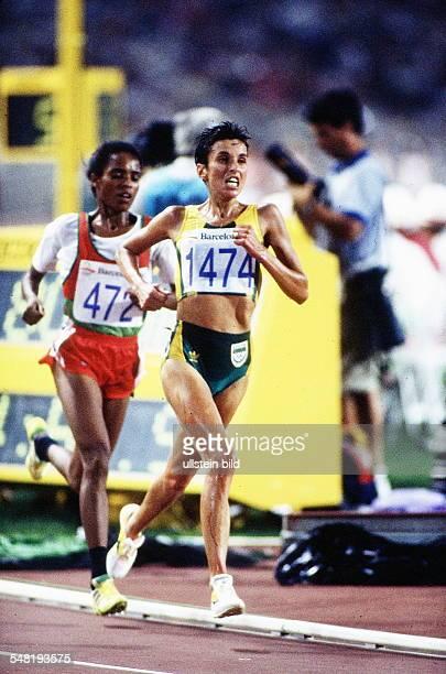 Duell zwischen Elena Meyer und der Olympiasiegerin Derartu Tulu 1992