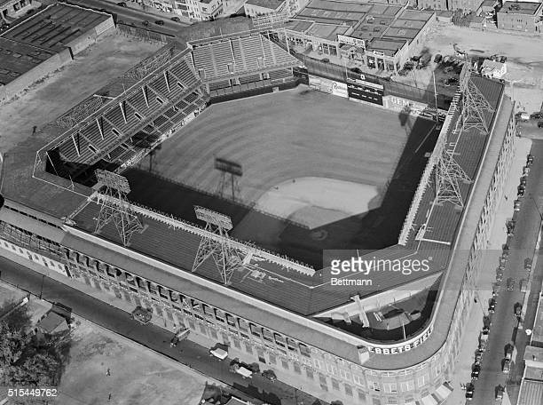Brooklyn New York General view of the diamond and Ebbets Field scene of the 1956 World Series opener which the Brooklyn Dodgers won 63