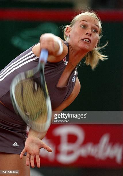 Sportlerin, Tennis, ÖsterreichBetty Barclay Cup am Hamburger Rothenbaum: beim Aufschlag