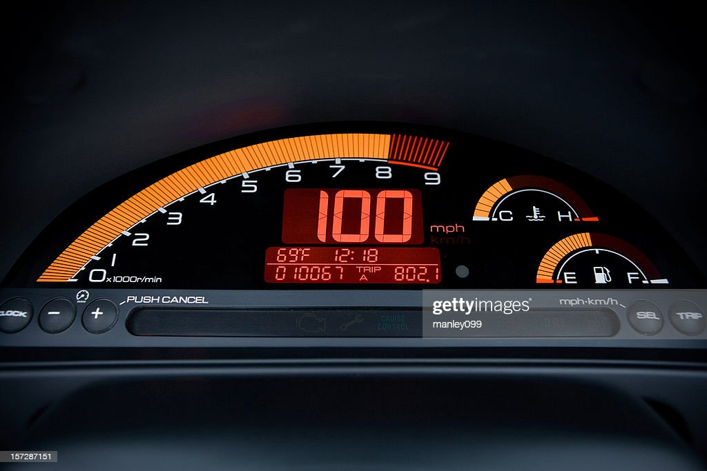 100mph Digital Car Gauge Rf Internet Sdometer