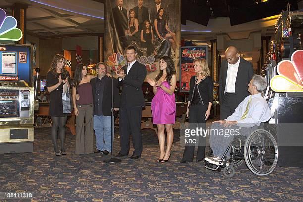 LAS VEGAS 100th Episode Behind the Scenes Pictured Molly Sims as Delinda Deline Vanessa Marcil as Samantha Sam Jane Gary Scott Thompson Josh Duhamel...