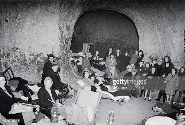 Kent England Civilization has literally been turned back millions of years by the war for these people of a Kent village driven to living in caves by...