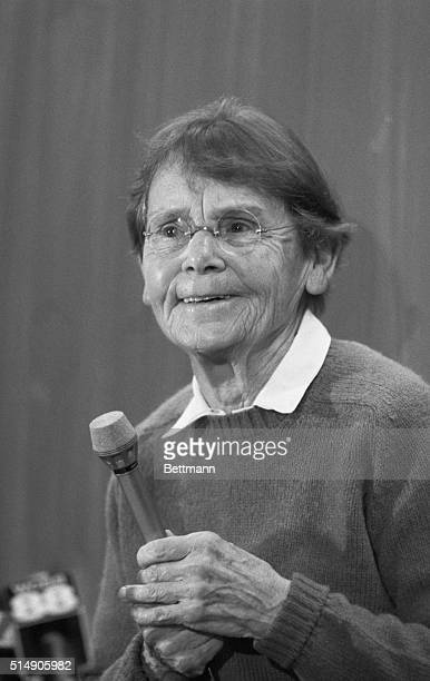"""New York, NY: Botanist Barbara McClintock, whose genetic work on corn led to the discovery of """"jumping genes"""" and a greater understanding of cancer,..."""