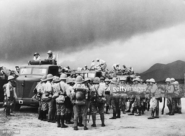 10/1/1941Saigon French IndoChina Japanese soldiers part of the first contingent of additional Japanese Army and Naval forces dispatched to French...