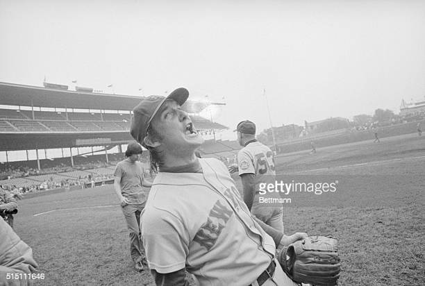 10/1/1973Chicago ILORIGINAL CAPTION READS Met's relief pitcher Tug McGraw leans back and yells You gotta believe just after the Mets won game over...