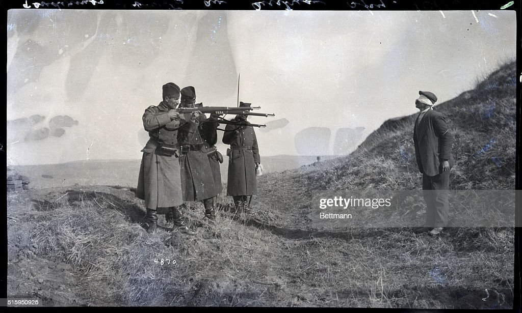 Execution Of Austrian Spy By Serbians : News Photo