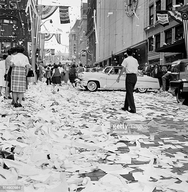 Pittsburgh PA Not 'VJ Day' but 'VY Day' on Pittsburgh's Fifth Avenue after the Pirates win over the Yankees in the World Series