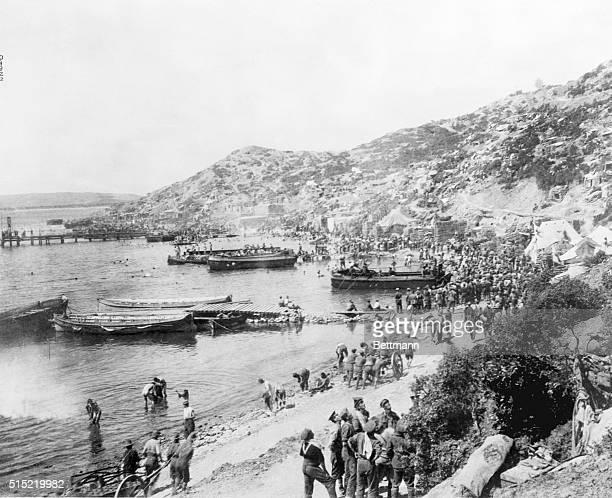 Gallipoli Peninsula TurkeyPhoto shows Gaba Tepe the spot where the Australians landed upon the Gallipoli Peninsula In the distance can be seen a pier...