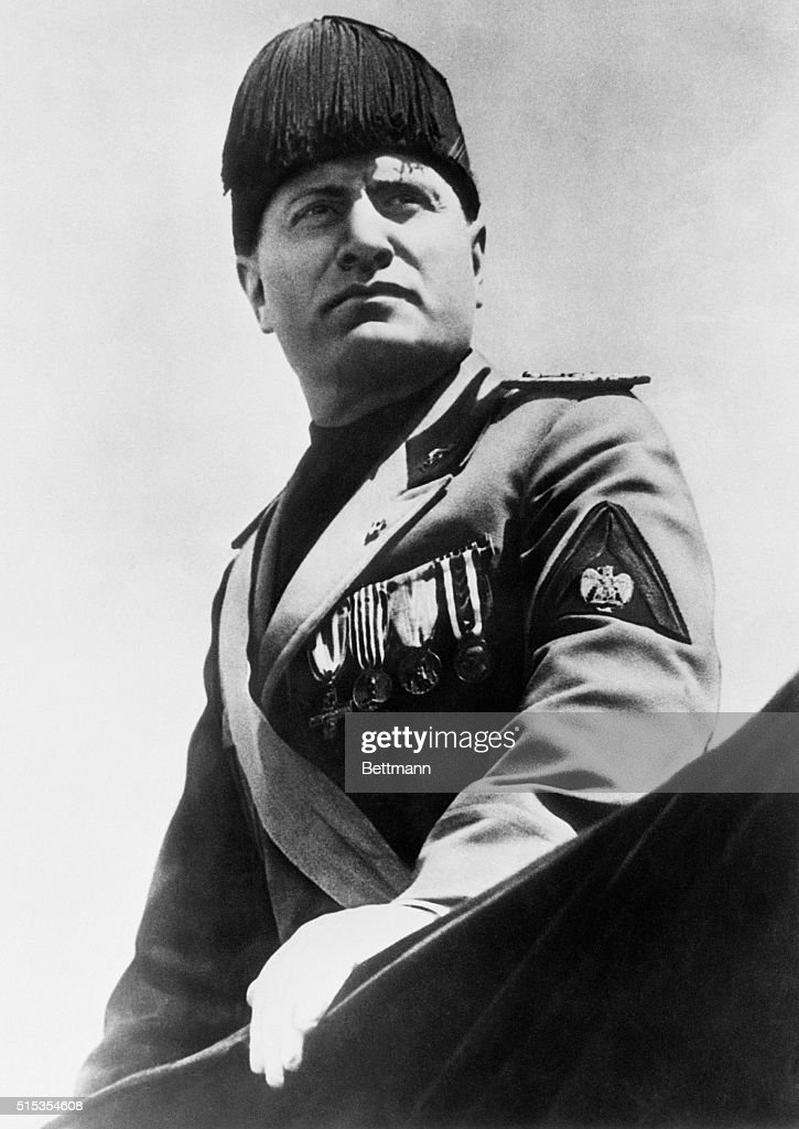 Mussolini in Dress Uniform : News Photo
