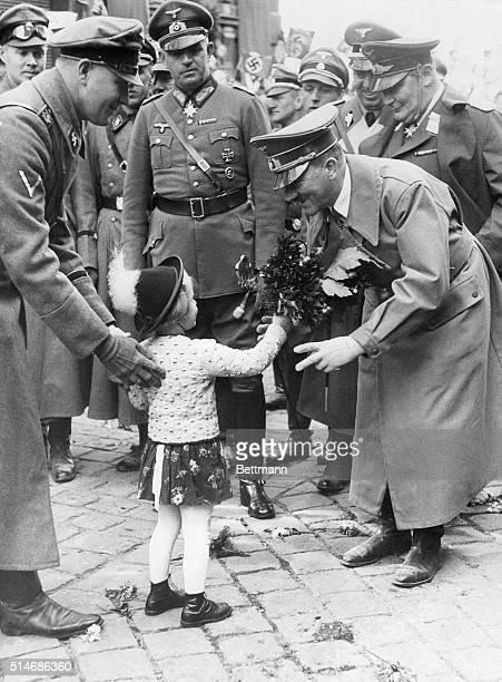 Jagendorf, Sudetenland, Czechoslavakia: Following German troops through occupied zones of the Sudetenland taken from Czechoslavakia, Adolf Hitler,...