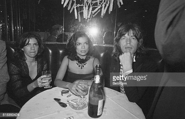 New York NYBianca and Mick Jagger reunited at a table at Andy Warhol's preopening party at the Copacabana nightclub here Bianca got in from...